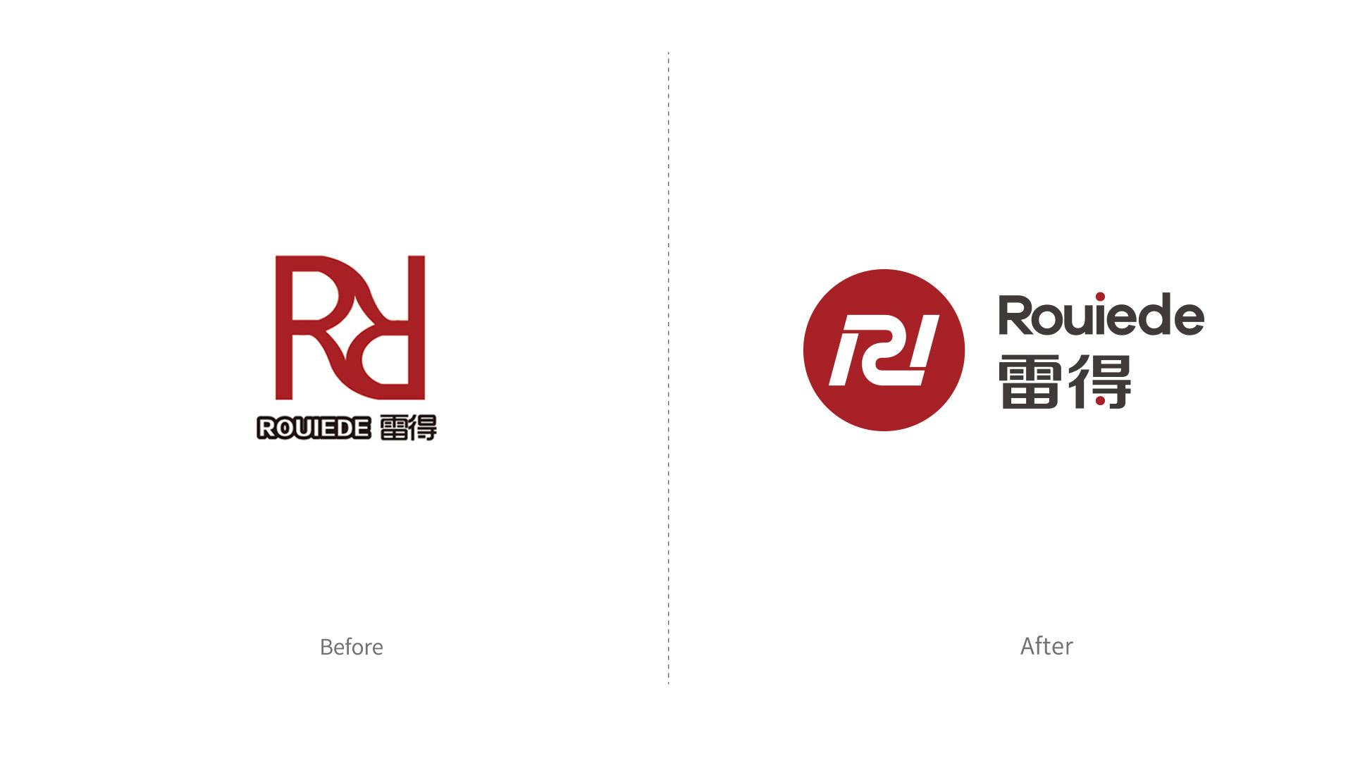 雷得电磁炉品牌形象改造升级设计logo设计