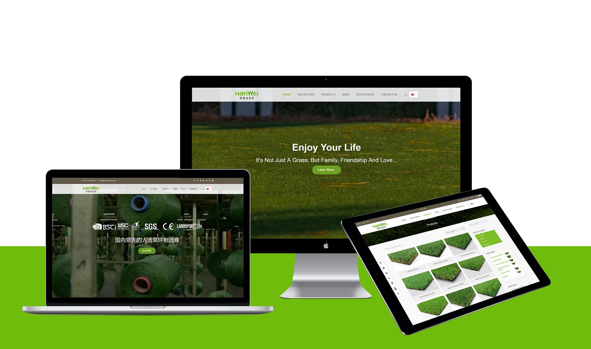 汉威草坪全案策划设计网站设计网站制作